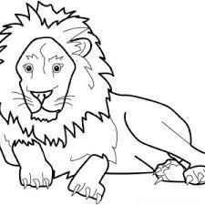 Small Picture Lion Coloring Page for Kids Color Luna