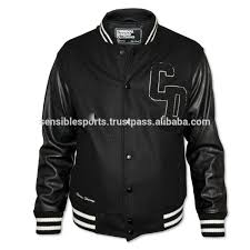 uni varsity jacket wool jacket with leather sleeve jacket 25 35 piece moq 2