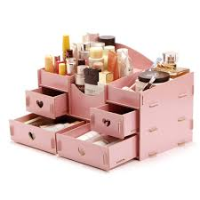 Large Wooden Women Makeup Organizer DIY Jewelry Wood Earings Storage Box Cosmetic  Organizer Home Desk Sundries Drawer Organizer-in Storage Boxes & Bins from  ...