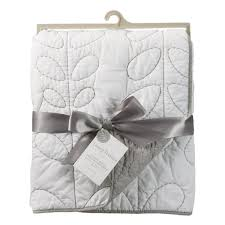 Baby Quilted Comforter - Cotton Poplin White/Grey – Living ... & Baby Quilted Comforter - Cotton Poplin White/Grey Adamdwight.com