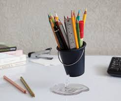 Pencil Holder Floating Desk Bucket Organizer Within Pen For Designs 4