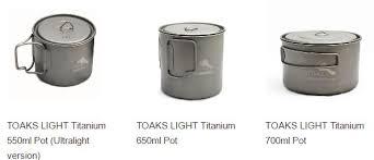 Ultralight Toaks Titanium Pots Backpacking Light