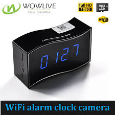 new design 1080p wireless wifi mini alarm clock