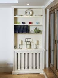 Handmade bookcase to incorporate radiator.