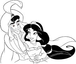 Aladdin E Jasmine 7 Disegni Da Colorare Gratis Disegni Da Colorare