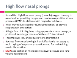 High Flow Nasal Cannula Fio2 Chart Modalities Of Oxygen Therapy In Picu 31 3 14
