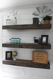 i made these floating shelves on a whim one day and had no idea if they would turn out or not luckily for me they did and are even better than imagined