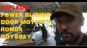 replace honda odyssey power sliding door motor roller