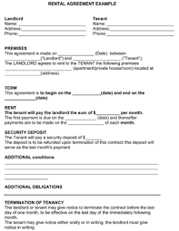 standard rental agreement template rental agreement template under fontanacountryinn com