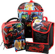 Lego Ninjago 6 Piece Backpack and Lunch Box School Set: Amazon.ca: Luggage  & Bags