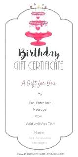 Free Customizable Gift Certificate Template Birthday Gift Certificate Template Free Download Stingerworld Co