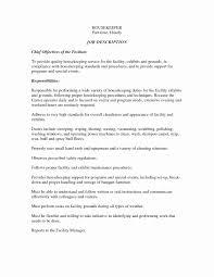 Hotel Housekeeping Resume Sample Unique Housekeeper Resume Samples