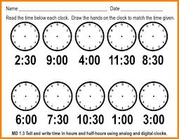 Math Worksheets Telling Timeten Free Library Template Matching Set ...