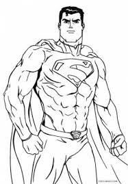 Small Picture Printable Superman Coloring Pages With Printable Superman