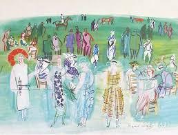 paintings of raoul dufy mannequins de poiret aux cours artwork landscape art high quality hand painted