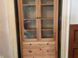 ikea glass door cabinet with 3 drawers
