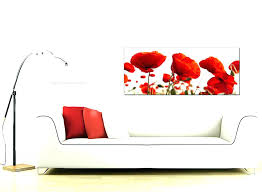 poppy canvas wall art red poppy wall art poppy wall art stickers large red poppy field