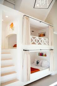 Built-in bunk bed ideas ... Curtain bunk beds