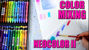 Neocolor Ii Color Mixing New Colors With The Caran Dache Palette
