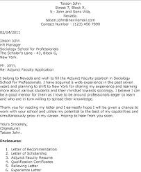 51 Awesome Sample Cover Letter For Adjunct Faculty Position