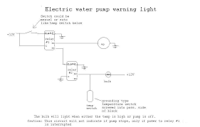 wiring gurus electric water pump warning light help camaroz28 relay pins