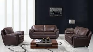 abbyson living sedona 3 piece leather sofa set