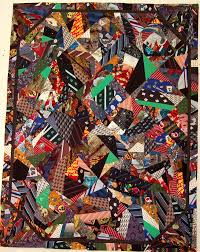 Tie Quilts • Rhino Quilting & The patchwork for a tie quilt using the crazy quilt pattern Adamdwight.com