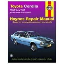 toyota corolla repair manual ebay Toyota Wire Harness Repair Manual haynes repair manual for toyota corolla 80 83 84 85 86 87 (fits wire harness repair manual toyota truck 1989