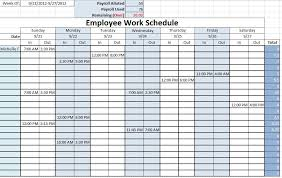 Schedule Document Template Work Schedule Templates Free Downloads Download Links