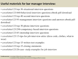 12 useful materials for bar manager bar manager cover letter