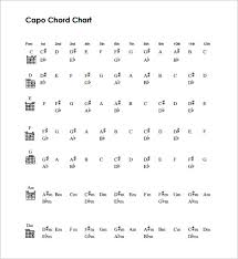 Cut Capo Chord Chart Sample Capo Chart 9 Documents In Pdf