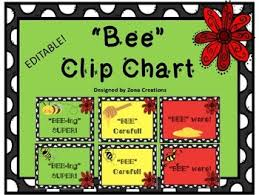 Clip Chart Behavior Management System Editable Bee Theme Clip Chart Behavior Management System Sign Poster
