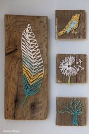 DIY String Art Projects - DIY Nail And Thread String Art - Cool, Fun and  Easy Letters, Patterns and Wall Art Tutorials for String Art - How to Make  Names, ...