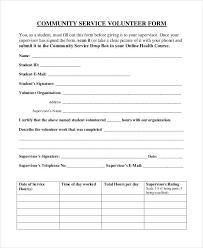 community service verification form for court community service form template volunteer impression portray