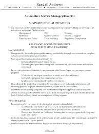 Service Advisor Resume Template Automotive Service Advisor Resume