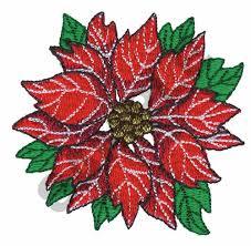 Poinsettia Designs Poinsettia Embroidery Design