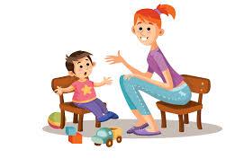 Image result for talking to children