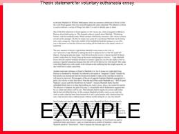 thesis statement for voluntary euthanasia essay college paper service thesis statement for voluntary euthanasia essay here you will some hints on writing an