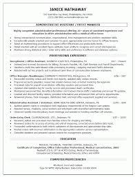 Administrative Assistant Or Office Manager Resume Template Sample