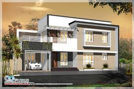 contemporary style house elevation kerala model home plans new