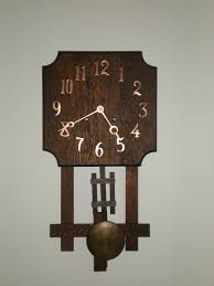 full image for appealing mission wall clock 48 sessions mission oak wall clock arts crafts wall
