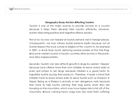factors affecting tourism international baccalaureate geography document image preview