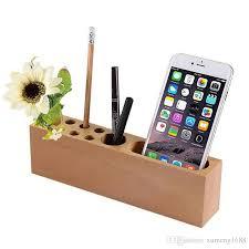 office pen holder. Wood Pencil Stand Holder For Desk, Business Card Desk With Wood/Office Pen Holder/Stand,10 Slots Desktop Organizer Office