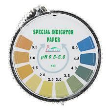 Precision Ph Test Strips Roll Short Range 0 5 5 0 Indicator Paper Tester Dispenser Color Chart 5m 16 4 Ft