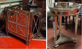 diy mirrored furniture. Mirrored Furniture - End Table (left) And Side (right) Diy