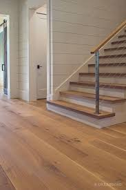wide plank white oak flooring. Wide Plank White Oak Hardwood Floor By And Broad With Custom Stain Matching Stair Treads Discover More At Corridor Hallway Stairs Fine Flooring Ltd