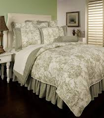 classic impression french toile bedding atzine with skirts blue bedroom black and white striped comforter set