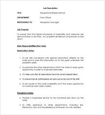 another word for receptionist receptionist job description template 9 free word pdf format