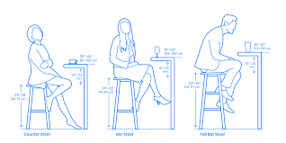 Bar Stool Size Chart Stools Dimensions Drawings Dimensions Guide