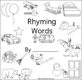 Small Picture Rhymes and Rhyming Words Beginning Readers Books